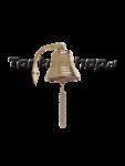scheepsbelletje met muurbeugel en bellenkoord 10 diameter