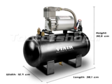 Afmetingen Viair Compressor set